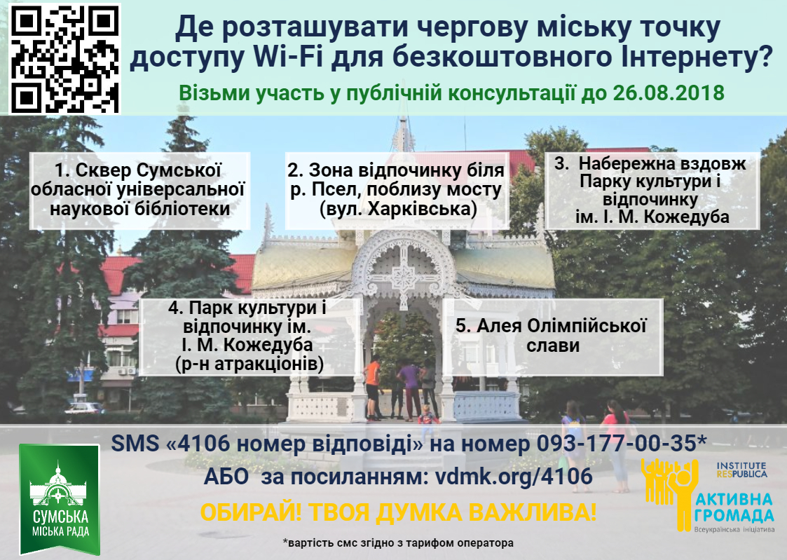 Library of Sumy region: a selection of sites