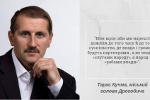 Тарас Кучма, мер Дрогобича